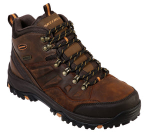 Skechers 65529 Relment Traven Mens Brown Waterproof Relaxed Fit Memory Foam Lace Up Boots