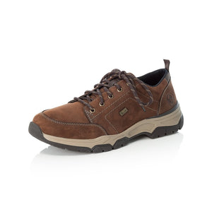 Rieker 11222-22 Mens Wide Brown Leather Rieker Tex Lace Up Shoes