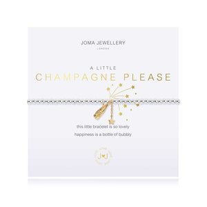 A little champagne please stretch bracelet