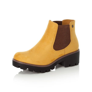 Rieker 99284-68 Ladies Yellow Pull on Chelsea Boots
