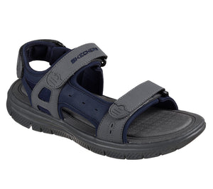 Skechers 51874 Flex Advantage 1.0 Upwell Mens Navy and Charcoal Walking Sandal