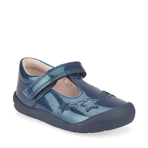 Start-Rite Sparkle 0772-9 Girls Navy Glitter Patent First Shoes