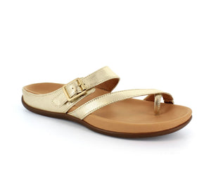 Strive Nusa Ladies Light Gold Leather Sandals
