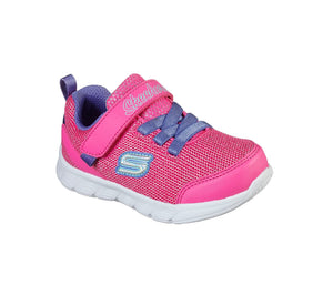 Skechers 302107N Comfy Flex Moving On Girls Pink and Purple Rip-Tape Fastening Trainers