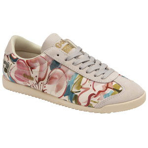 Gola Bullet Liberty Fabric Ladies Off White Multi Print Lace Up Trainers