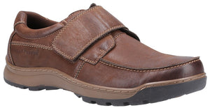 Hush Puppies Casper Mens Brown Waxy Nubuck Leather Touch Fastening Shoes