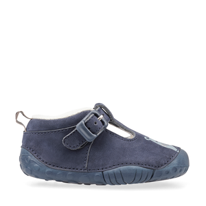 Start-Rite Cuddle 0775_9 Boys Navy Nubuck T-Bar Pre Walker