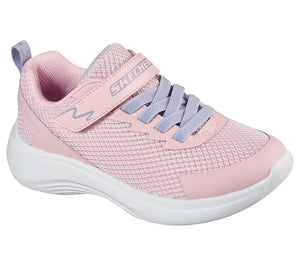 Skechers 302470N Selectors Jammin' Jogger Girls Light Pink Rip-Tape Fastening Trainers