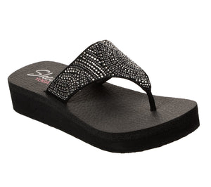 Skechers 31614 Vinyasa Stone Candy Ladies Black Mule Sandal