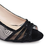 Lunar Faith Nude And Black Lace Peep Toe Shoe
