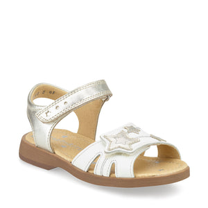 Start-Rite Twinkle 5189_5 Girls White and Silver Leather Sandals