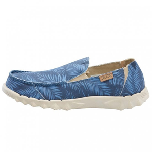 Dude Farty Print Mens Tropical Blue Slip Ons
