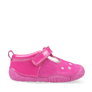 Start-Rite Little Star 0774_6 Girls Berry Nubuck/Patent T-Bar Pre Walker