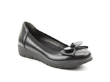 Heavenly Feet Nina Ladies Black Slip On Shoes