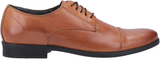 Hush Puppies Ollie Mens Tan Leather Toe Cap Dress Shoes