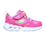 Skechers 302092N Magna Lights Expert Level Girls Pink Multi Trainers