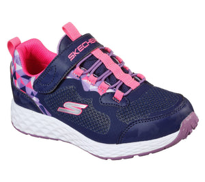 Skechers 302418L Waterproof Gore & Strap Girls Navy Trainers