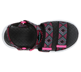 Skechers 302098L C-Flex Sandal 2.0 Girls Black With Multi Trim Sandal