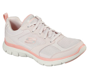 Skechers 149305 Flex Appeal 4.0 Ladies Pink Lace Up Trainers