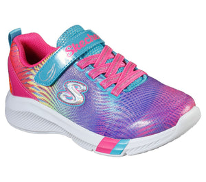 Skechers 302023L Dreamy Lites Sunny Sprints Girls Multi Coloured Rip-Tape Fastening Trainers