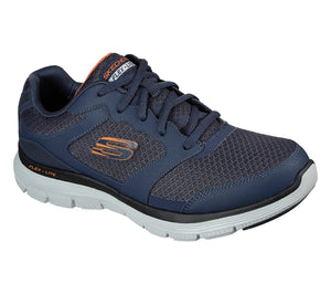 Skechers 232225 Flex Advantage 4.0 Mens Navy Lace Up Trainers