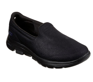 Skechers 15948 Go Walk 5 Sensational Ladies Black Slip On Shoes