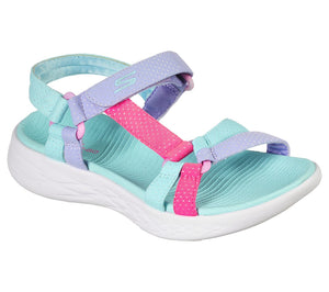 Skechers 302117L On The Go 600 Summer Sense Girls Aqua Sandal