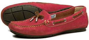 Orca Bay Ballena Ladies Berry Red Washable Leather Deck Shoes