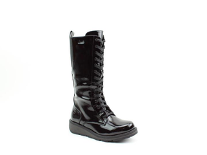 Heavenly Feet Maze2 Ladies Black Patent Calf Length Boots