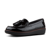 Fitflop O28-001 Petrina Ladies Black Patent Moccasin