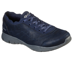 Skechers 158175 Seager Ladies Navy Slip On Shoes