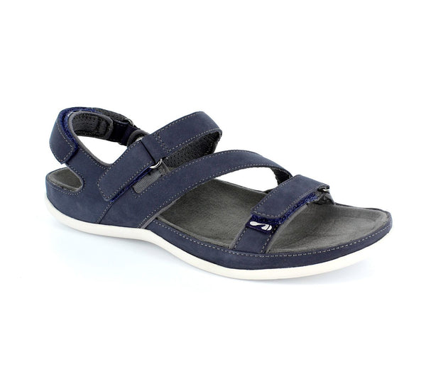 Strive Montana Navy Leather Walking Sandals