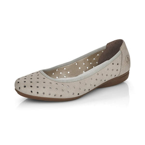Rieker L8355-40 Ladies Cloud Ballerina Slip On Shoes