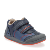 Start-Rite Tough Bug FST 0754-9 Boys Navy Leather Rip Tape Shoe - elevate your sole