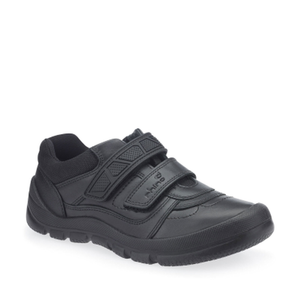 Start-Rite Rhino Warrior 8237-7 Boys Black Leather Rip Tape Shoes - elevate your sole