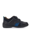 Start-Rite Grip 1697-9 Boys Navy Leather Rip-Tape Shoes - elevate your sole
