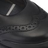 Start-Rite Spring Black Leather Rip Tape Fastening Shoes - elevate your sole