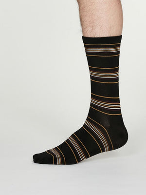 Thought SPM 584 Nicolson Mens Bamboo Stripe Socks