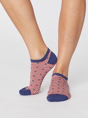 Thought SPW 372 Spot & Stripe Ladies Bamboo Trainer Socks