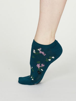 Thought SPW 554 Flowery Ladies Bamboo Trainer Socks