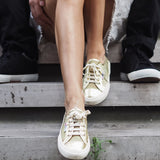 Superga 2750 NETW Gold Womens Lace Up Trainers - elevate your sole