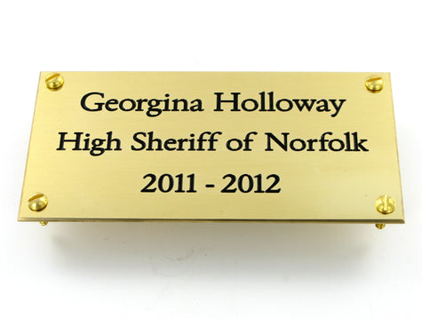 Engraved Signs and Memorial Plates