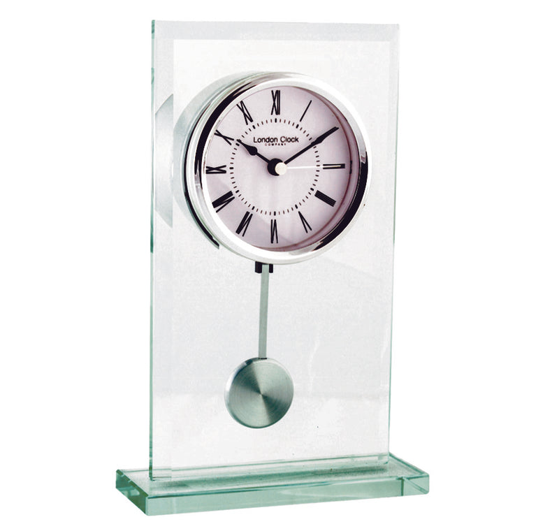London Clock Tall Glass Pendulum Clock 03121