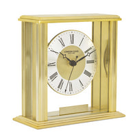 London Clock Gold Flat Top Mantel EP 06398