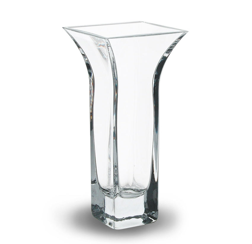 Nobile Clear Flared Vase - 22.5cm