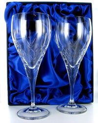 Mayfair Wine Goblet Pair with Presentation Box & Free Engraving