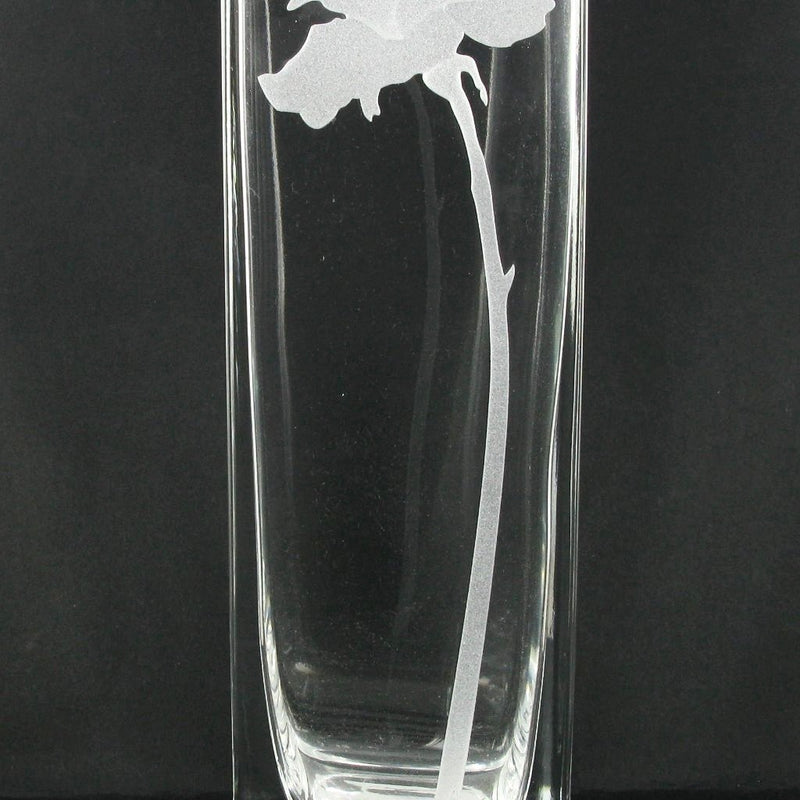 Nobile Clear Single Rose Vase - 21cm