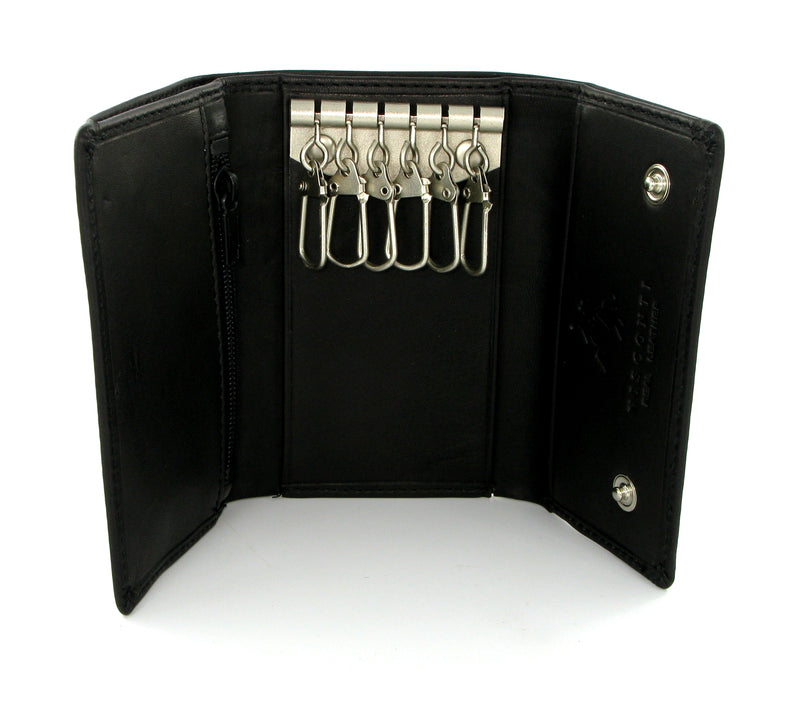 Visconti Polo Black Leather Key Holder Wallet 1178