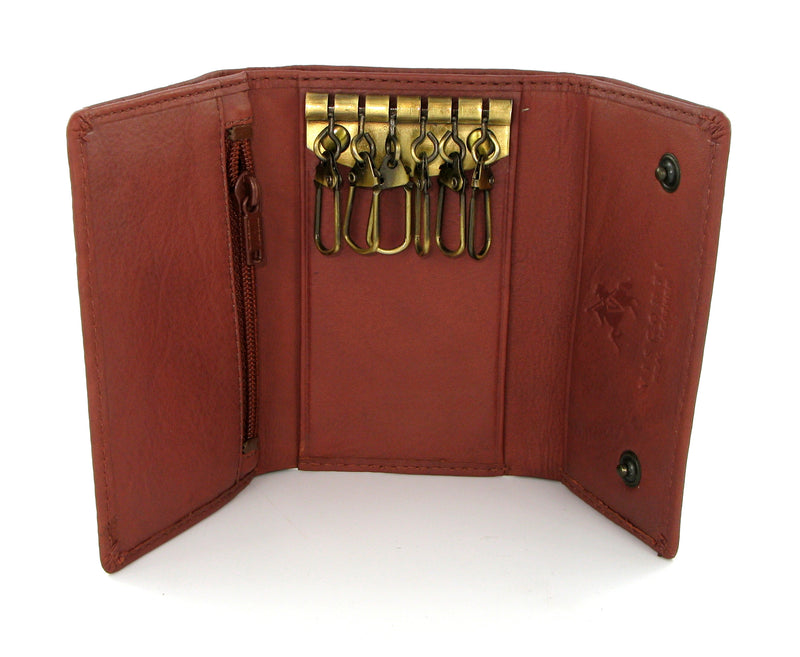 Visconti Polo Brown Leather Key Holder Wallet 1178