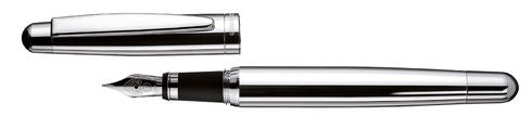 Otto Hutt Smooth Silver Fountain Pen - 018-61045